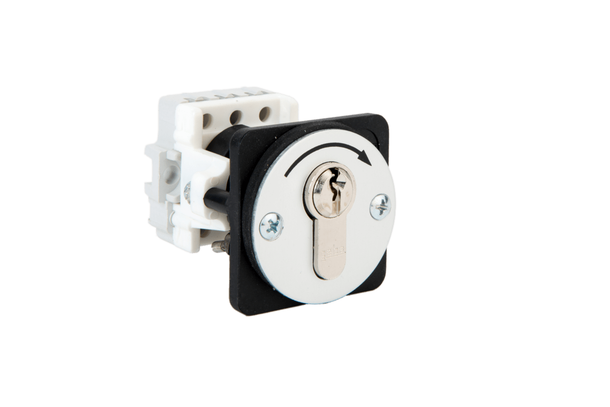 J-KU 1-1T/1 flush mount key switch one way momentary Ref.: 099.1101.10 – with cylinder Ref.: 099.1101.00 – without cylinder