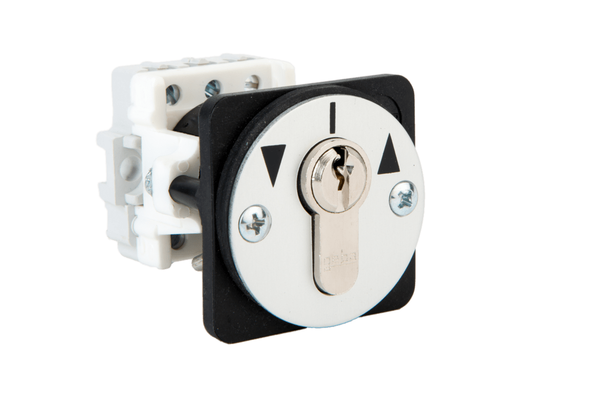 J-KU 1-2R/2 flush mount key switch two way latching Ref.: 099.1402.10 – with cylinder Ref.: 099.1402.00 – without cylinder