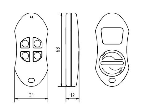 2 Kanal Handsender Micro-Skizze