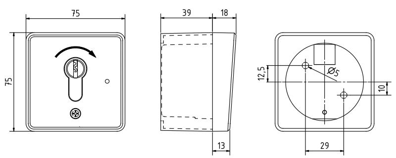 Funk-Schlüsselschalter MP 1T1-Skizze